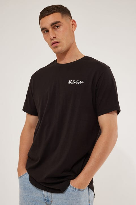 Kiss Chacey Sinner Dual Curved Tee Jet Black