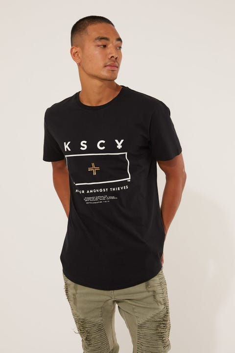 Kiss Chacey Roaming Dual Curved Tee Jet Black
