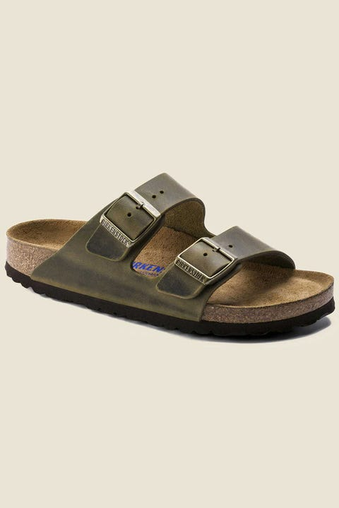 BIRKENSTOCK Womens Arizona NL SFB Oiled Narrow Jade