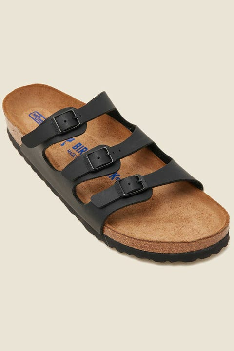 BIRKENSTOCK Womens Florida SFB BF Narrow Black