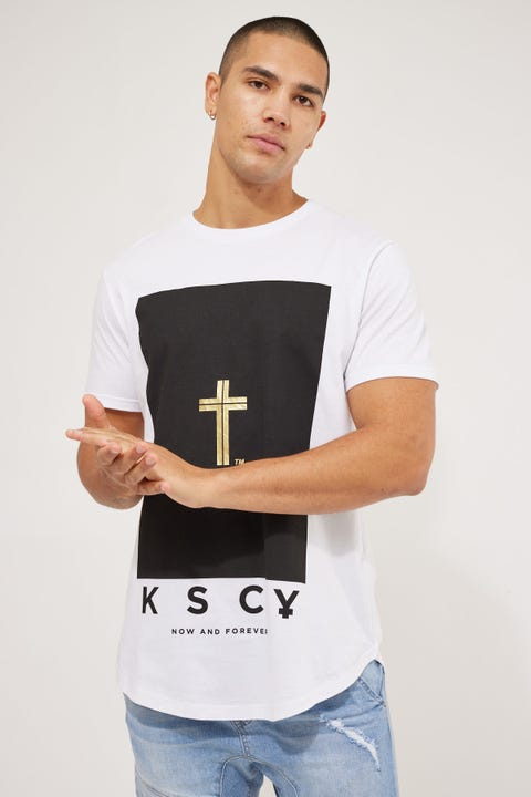 Kiss Chacey Madera Dual Curved Tee White