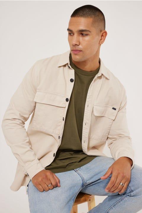 Academy Brand Florida Jacket Overshirt Vanilla
