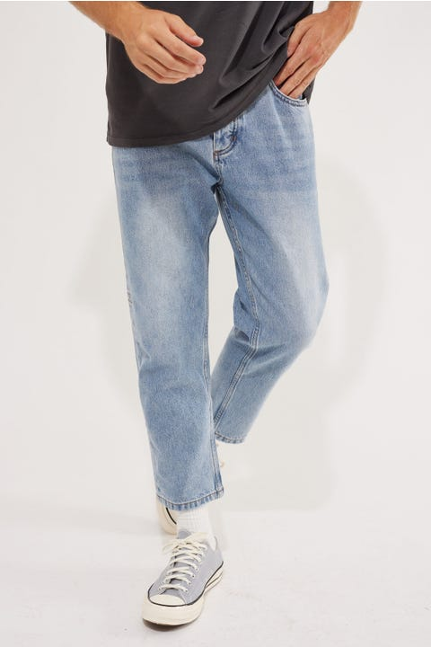 Thrills Chopped Denim Jean Aged Blue