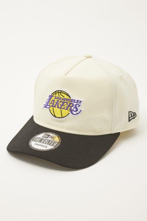 New Era Golfer LA Lakers Classic 2Tone Off White/Black
