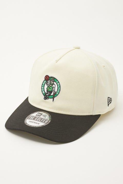 New Era Golfer Boston Celtics Classic 2Tone Off White/Black
