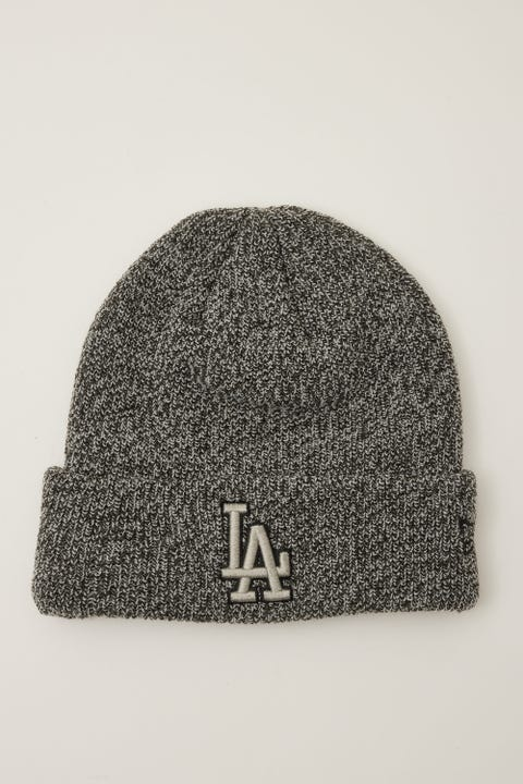 New Era 6Dart Knit LA Dodgers Beanie Black Marle