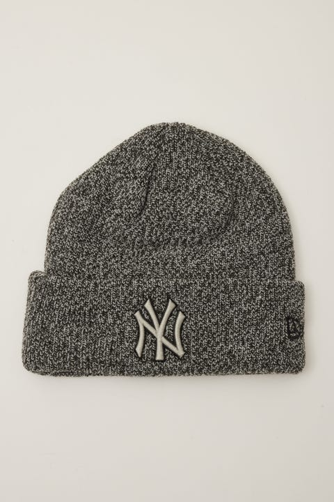 New Era 6Dart Knit NY Yankees Beanie Black Marle