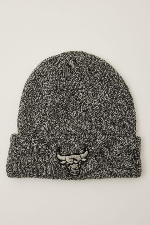 New Era 6Dart Knit Chicago Bulls Beanie Black Marle