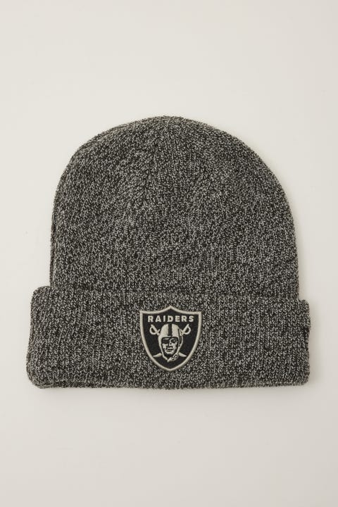 New Era 6Dart Knit Las Vegas Raiders Beanie Black Marle