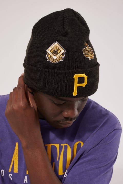 New Era 6Dart Knit All Over Champs Pittsburgh Pirates Beanie Black