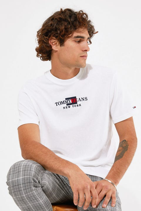 Tommy Jeans TJM Timeless Tommy Tee 1 White