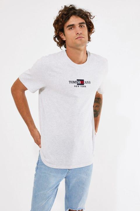 Tommy Jeans TJM Timeless Tommy Tee 1 Silver Grey Htr