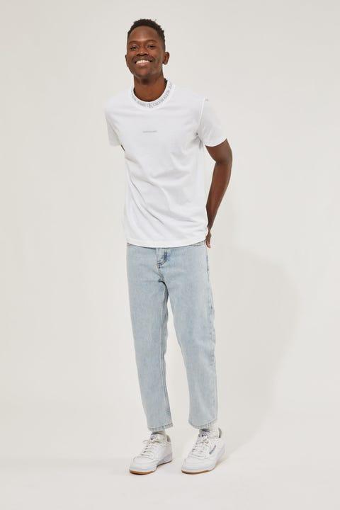 Calvin Klein Logo Jacqaurd Tee Bright White