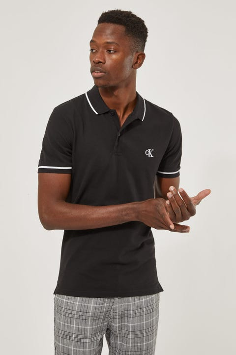 Calvin Klein Tipping Slim Polo Shirt White