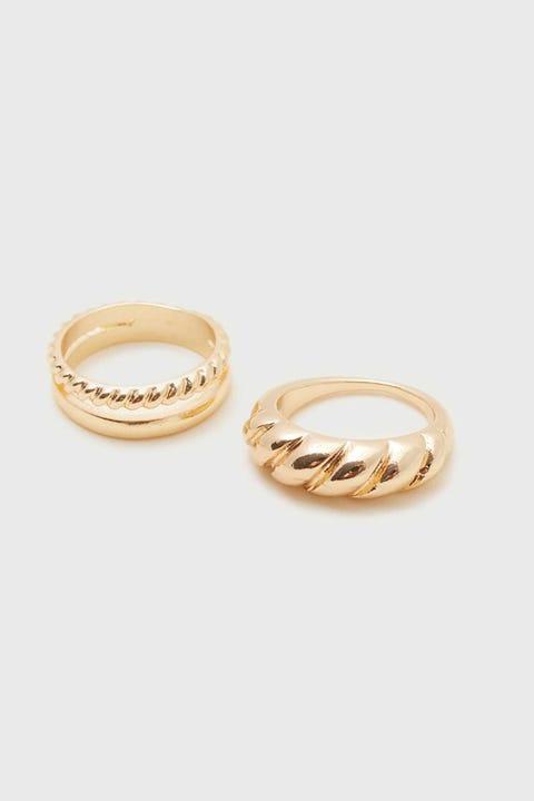 Token London Ring Set Gold
