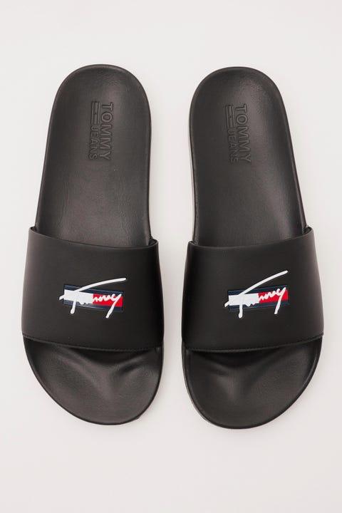 Tommy Jeans Signature Pool Slide Black
