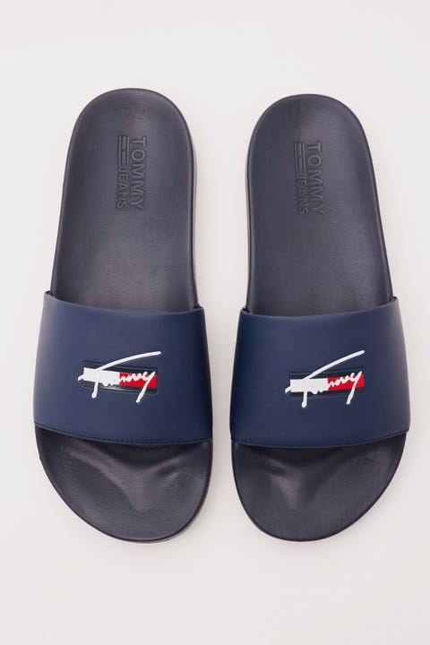 Tommy Jeans Signature Pool Slide Twilight Navy