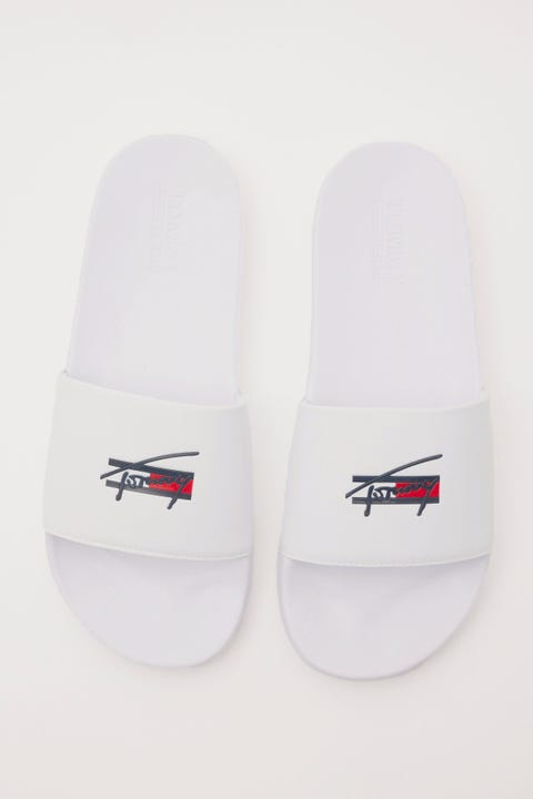 Tommy Jeans Signature Pool Slide White