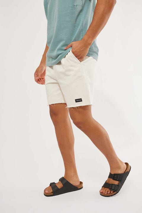 Common Need Enzo Elastic Waist Short Ecru