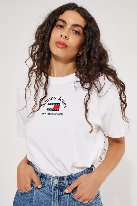 Tommy Jeans Timeless Tommy1 Tee White