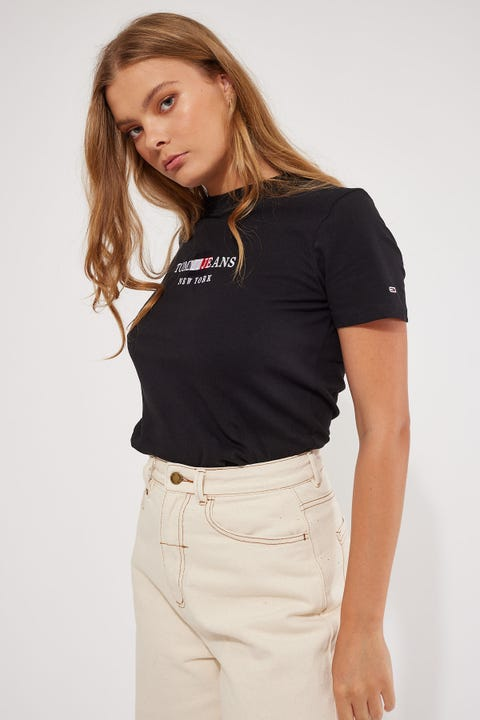 Tommy Jeans Timeless Tommy2 Tee Black