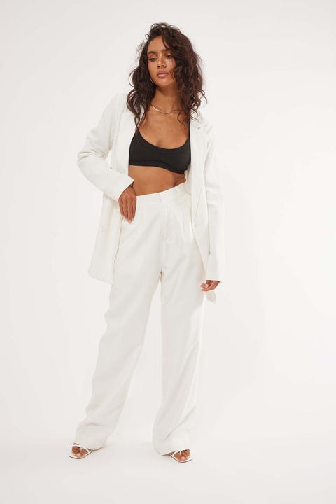 Perfect Stranger Oversized Blazer White