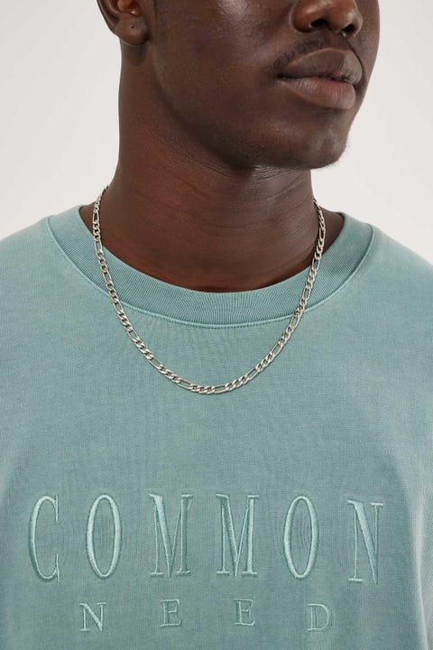 Common Need Figaro Chain Necklace Silver