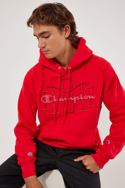 Champion Homie Reverse Weave Hoodie Scarlet Red