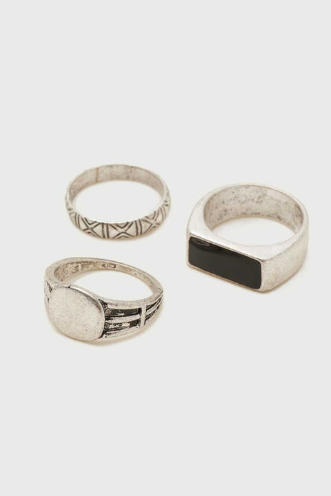 Common Need Signet Ring Pack Brushed Silver