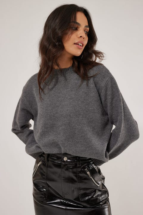 Luck & Trouble Ebony Chunky Knit Charcoal