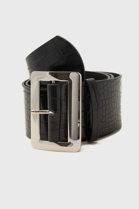 Token Serafina Croc Belt Black/Silver