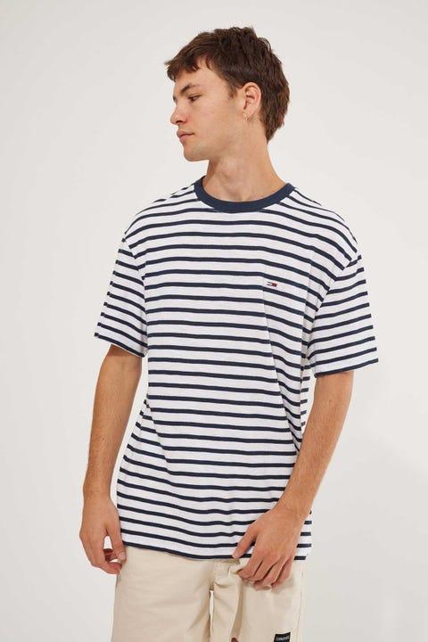 Tommy Jeans TJM Tommy Stripe Tee Twlight Navy/White