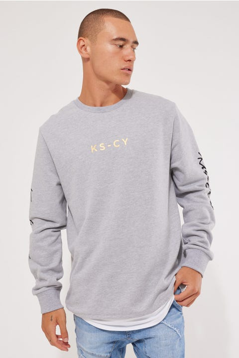 Kiss Chacey All In Layered Sweat Grey Marle