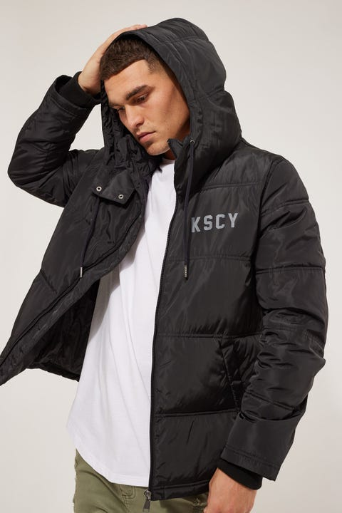 Kiss Chacey Loyalty Puffer Jacket Jet Black