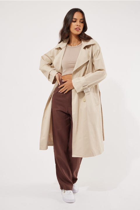 Perfect Stranger Trench Coat Nude