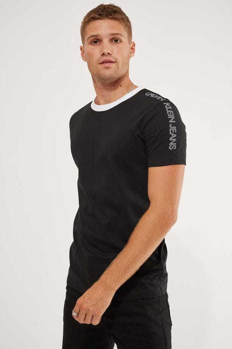 Calvin Klein Outline Logo Shoulder Tee Black