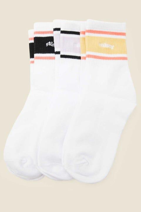 Stussy Italic Sport Sock 3pk Multi Coloured