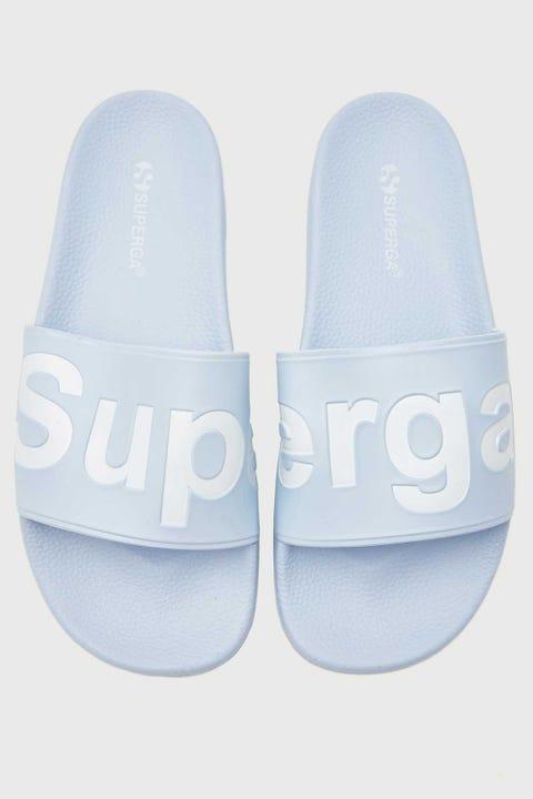 Superga 1908 PUU Slides Azure Erica White