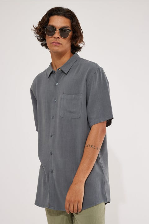 Common Need Daring Party Shirt Slate Blue