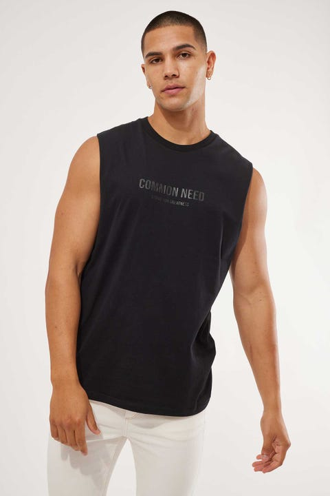Common Need Steady Muscle Tank Black