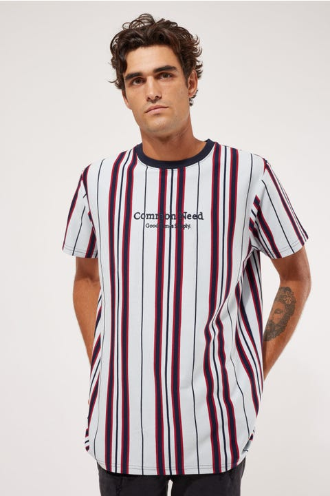 Common Need Walter Stripe Tee Light Blue/Navy/Red