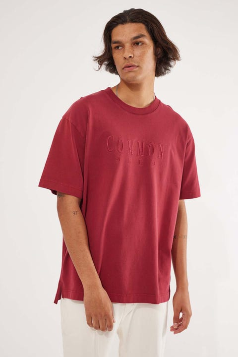 Common Need Sense Boxy Tee Washed Red