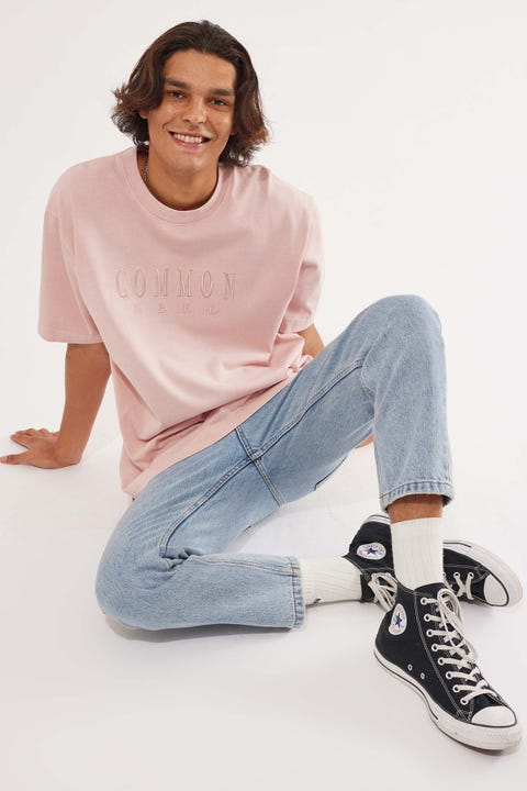 Common Need Sense Boxy Tee Washed Rose