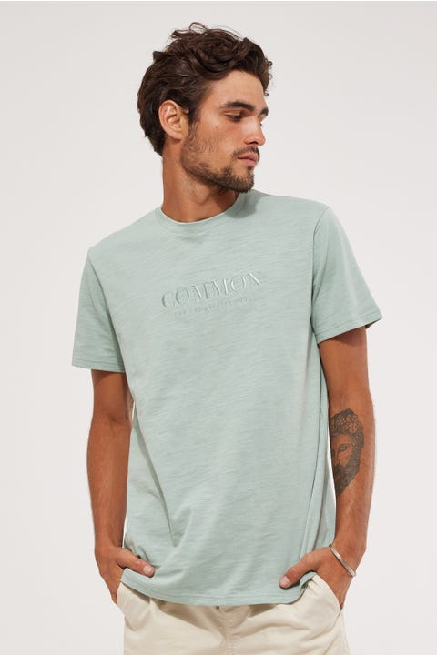 Common Need Chrome Slub Tee Jade Green