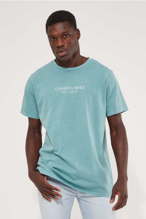 Common Need Refined Tee Mineral Blue