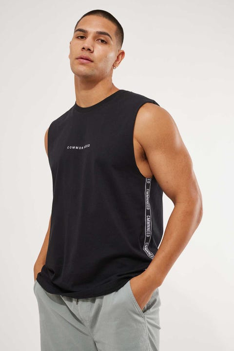 Common Need Tracking Muscle Tank Black
