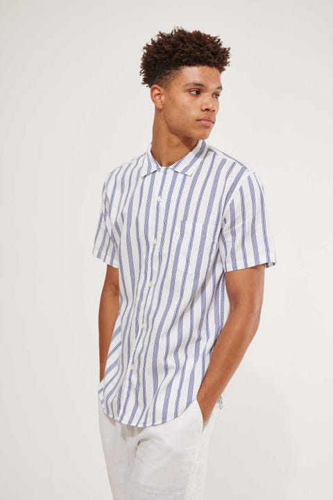 Academy Brand Hermosa SS Shirt White/Navy
