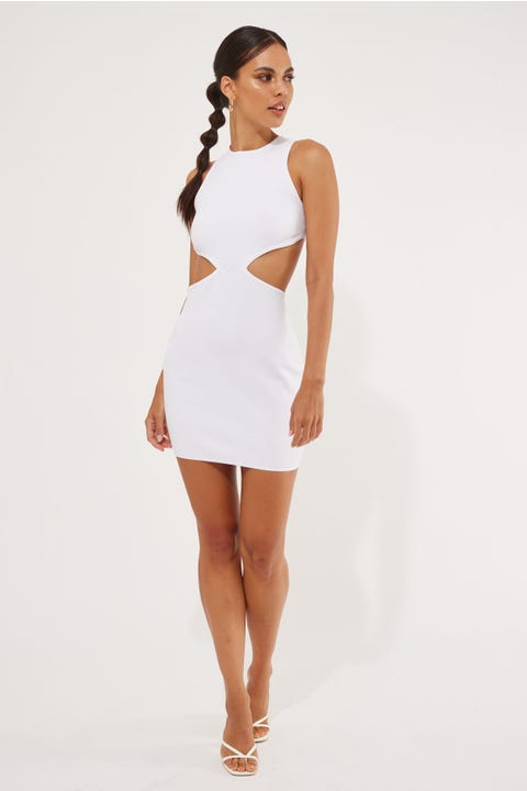 Luck & Trouble After Glow Mini Dress White