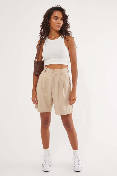 Perfect Stranger Cali Love Bermuda Short Taupe