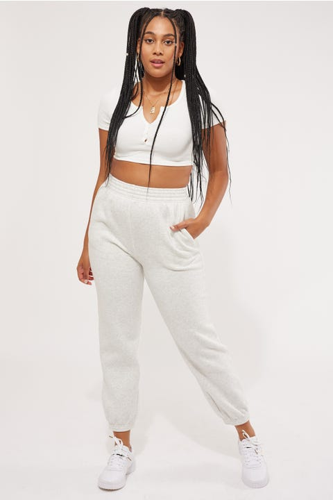 Luck & Trouble Relaxed Trackpant Snow Marle